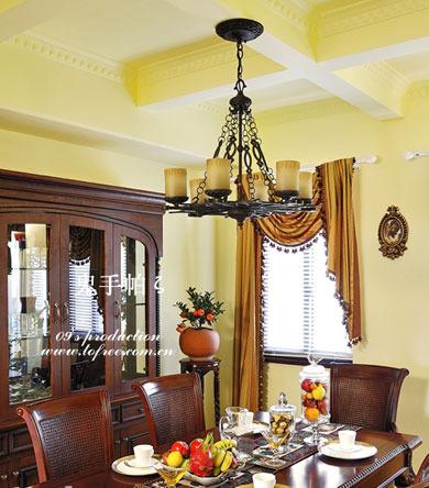 吊顶背景墙餐厅背景墙中式餐厅吊顶效果图