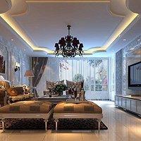 6米高沙发墙装修效果图