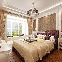复古欧式五居室卧室装修效果图