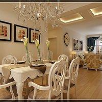 茶几地毯客厅吊灯灯具装修效果图