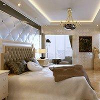 85平二层小复式卧室吊顶装修效果图