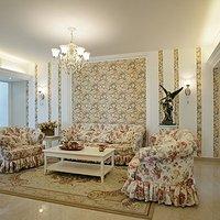 现代别墅卧室壁纸背景墙装修效果图