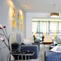 客厅别墅现代简约窗帘装修效果图