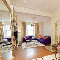 客厅家具壁纸台灯实木家具装修效果图