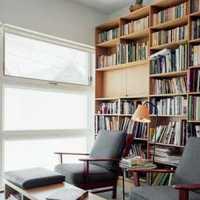 簡約書房書櫥裝修效果圖