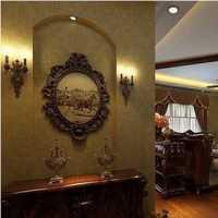 简约客厅落地窗吸顶灯装修效果图