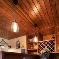 北欧开放式厨房木地板装修效果图