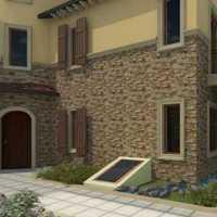 小中式别墅外观装修效果图
