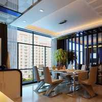 中式客厅连餐厅镂空隔断装修效果图