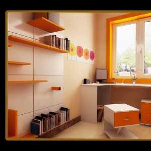 橙色简约风格儿童房效果图