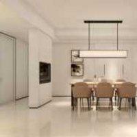 现代欧式两居室客厅餐厅装修效果图