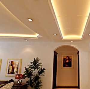 客厅带电扇吊灯