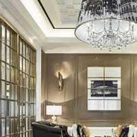 美式风格卧室三层别墅及舒适咖啡色效果图