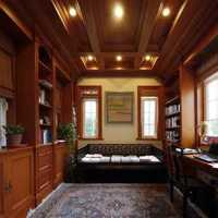 简约时尚原木色书房三居装修效果图