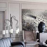 老上海客厅电视墙装修效果图