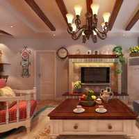 田园现代风格别墅室内家居装饰效果图