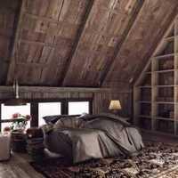 卧室实木家具书桌双人装修效果图