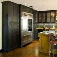 现代别墅白雅型厨房装修效果图