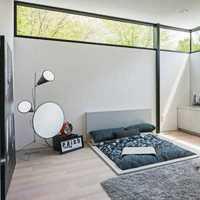 现代简约复式楼卧室书房装修效果图