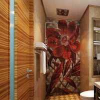 现代干湿分离家庭卫生间装修效果图