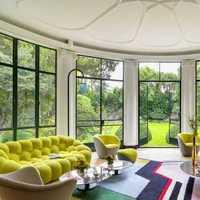 别墅现代简约客厅茶几装修效果图