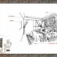 竹筒饭餐厅复古装修效果图100平方米