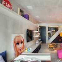 二居客厅沙发背景墙画装修效果图