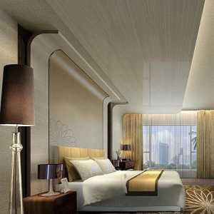 现代风灰色墙面卧室装修效果图