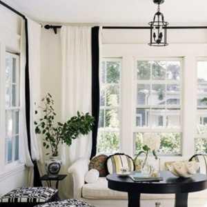 黑白簡約三居室裝修效果圖