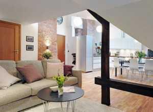电视背景墙三居茶几沙发装修效果图