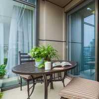 中式平层阳台装修效果图
