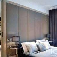 卧室背景墙抽屉柜三居卧室装修效果图