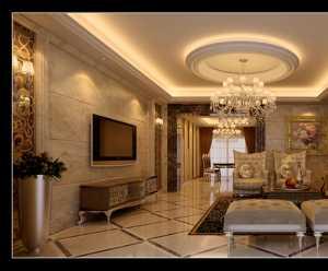 暖色调 时尚大气的客厅效果图