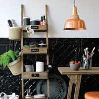 现代简约开放式厨房橱柜装修效果图