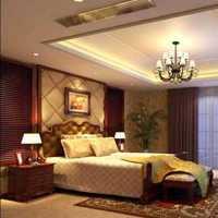 199平米新中式卧室吊顶装修效果图