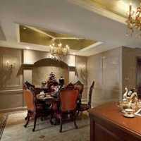 美式乡村风格3层别墅温馨客厅咖啡色效果图