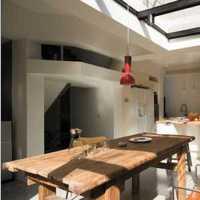 新古典别墅简单原木色厨房装修效果图