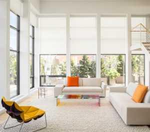 loft现代简约白色客厅楼梯