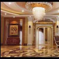 新中式对门客厅玄关装修效果图