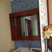 欧美风情三居室卫生间浴室柜效果图