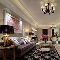 现代别墅紫色沙发家庭装修效果图
