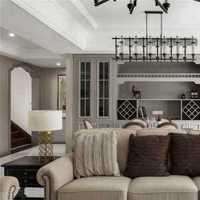 客厅茶几实木置物架置物架装修效果图