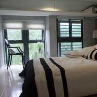 双人窗帘卧室背景墙装修效果图