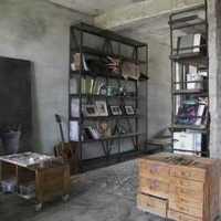 現代歐式三居室書房工作區裝修效果圖