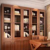 别墅书房吊顶美式窗帘装修效果图