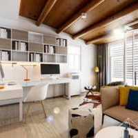 别墅客厅隔断中式装修效果图