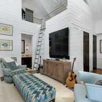 英式田园楼梯别墅客厅装修效果图