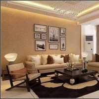 现代别墅温暖型起居室装修效果图