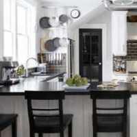 实木厨房石英石台面装修效果图