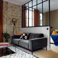 现代蓝色墙面儿童卧室装修效果图